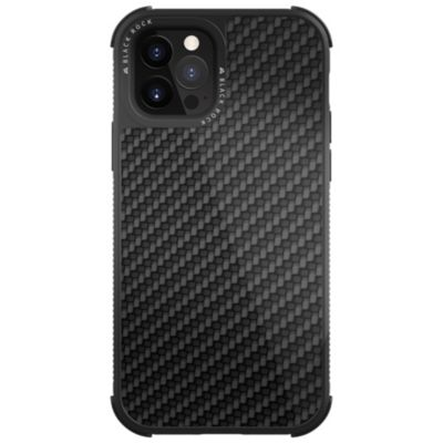Black Rock iPhone12Pro/iPhone12 Robust Case Real Carbon ブラック