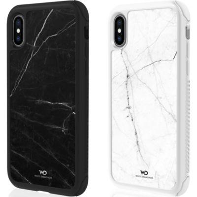 White Diamonds iPhoneXS iPhoneX ケース 耐衝撃 Tough Marble Case