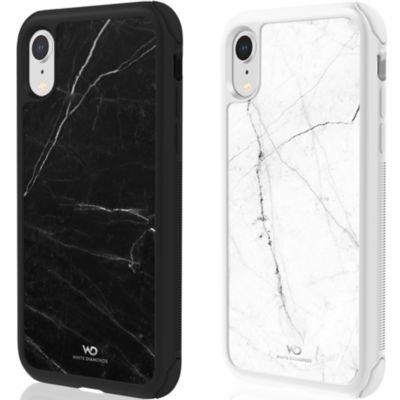 White Diamonds iPhoneXR ケース 耐衝撃 Tough Marble Case