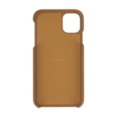 アウトレット COACH iPhone11 LEATHER WALLET CASE