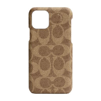 【アウトレット】 COACH iPhone 11 Pro SLIM WRAP CASE SIGNATURE C WRAP Khaki
