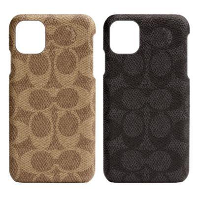 【アウトレット】 COACH iPhone 11 SLIM WRAP CASE SIGNATURE C WRAP Black