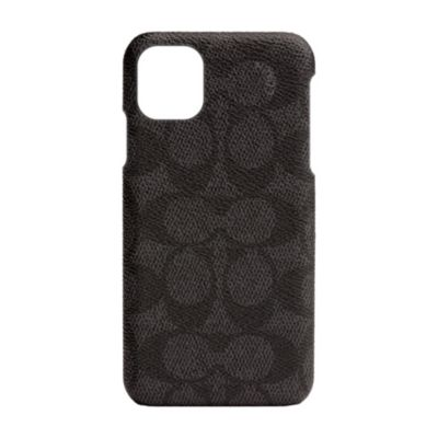 【アウトレット】 COACH iPhone 11 SLIM WRAP CASE SIGNATURE C WRAP Black