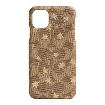 【アウトレット】SoftBank限定モデル COACH iPhone 11 SLIM WRAP CASE POP STAR Gold Signature C Wrap