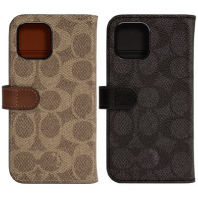 COACH iPhone11Pro WALLET CASE SIGNATURE C FOLIO