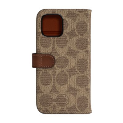 【アウトレット】COACH iPhone 11 Pro WALLET CASE SIGNATURE C FOLIO Khaki