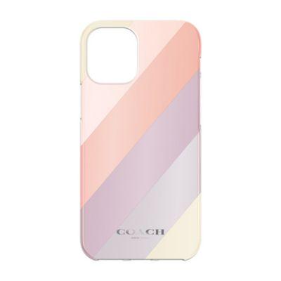 【SoftBank限定モデル】COACH iPhone12Mini Protective Case ピンク パープル イエロー