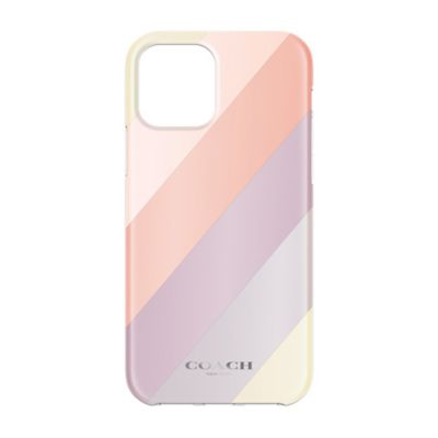 【SoftBank限定モデル】COACH iPhone12Pro / 12 Protective Case ピンク パープル イエロー