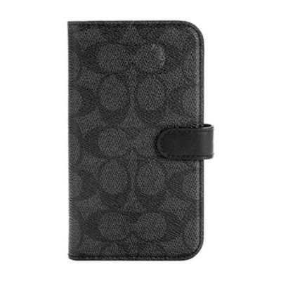COACH iPhone12Pro/iPhone12 Folio Case - Signature C ブラック