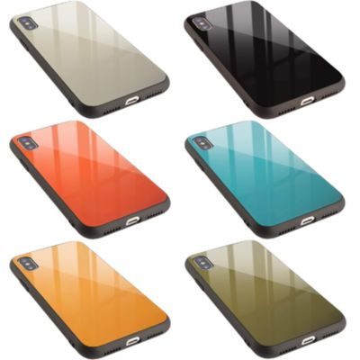 *campino カラーガラスケース for iPhone XS / X