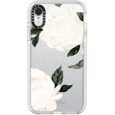 Casetify iPhoneXR ケース  Impact Case FLORAL white rose No.4866895 White Bumper