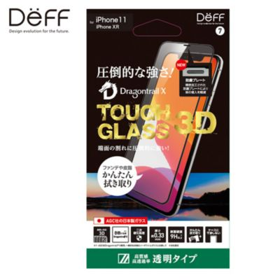 Deff iPhone 11 / XR TOUGH GLASS 3D Dragontrail クリア