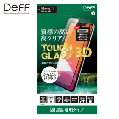 Deff iPhone 11/XR TOUGH GLASS 3D クリア