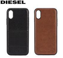 アウトレット iPhone XS/X CO-MOLDED INLAY -Black Lined Leather DIPH-001-BLKLL