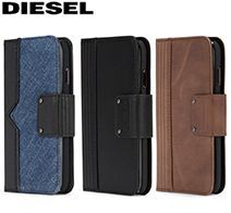 アウトレット iPhone XS/X FOLIO CASE -Leather/Denim