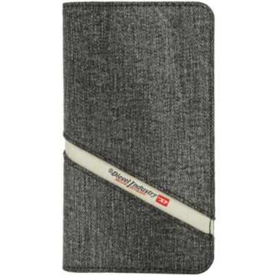 Diesel iPhoneXR ケース 手帳型 DIESEL 2IN1 FOLIO CASE Grey Denim Diagonal Logo