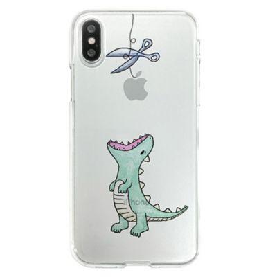 Dparks iPhone X ソフトクリアケース ファンタジー はらぺこザウルス