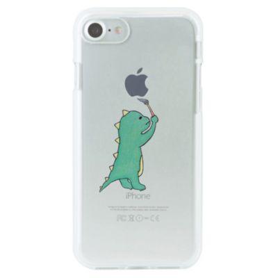 Dparks iPhone 8 / 7 ソフトクリアケース お絵かきザウルス