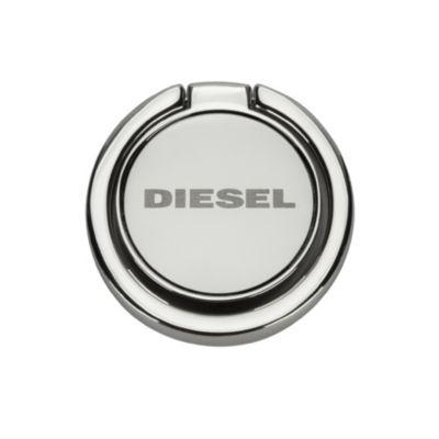 Diesel DIESEL RING STAND Silver Mirror Etched Diesel logo