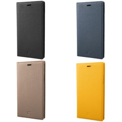 GRAMAS iPhoneXS iPhoneX ケース 手帳型 レザー Shrunken Calf Leather Book Case