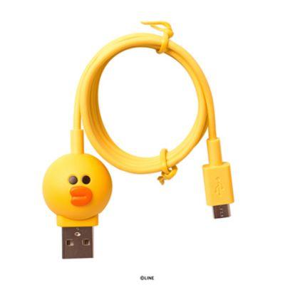 マイクロ USB ケーブル LINE FRIENDS 充電 データ転送 対応 ラインフレンズ 1m「LINE FRIENDS公式ライセンス商品」
