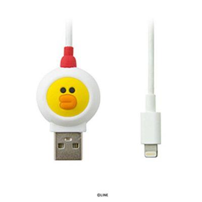 MFi認証 ライトニングケーブル LINE FRIENDS JUNGLE BROWN(ラインフレンズ ジャングル ブラウン) 充電 データ転送 公式ライセンス商品