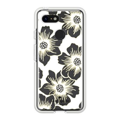Kate Spade New York Reverse Hollyhock Floral Clear Cream with Stones for Pixel 3