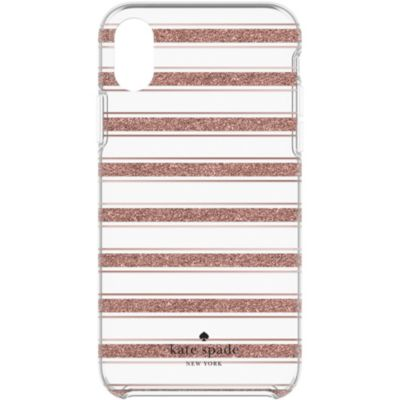 Kate Spade iPhoneXR ケース kate spade new york Protective Hardshell BOLD STRIPE