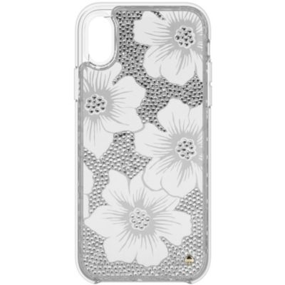 Kate Spade iPhoneXR ケース kate spade new york FULL CLEAR CRYSTAL HOLLYHOCK
