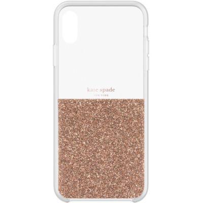 Kate Spade iPhoneXSMax ケース kate spade new york HALF CLEAR CRYSTAL