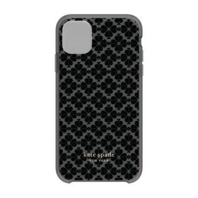 【アウトレット】 kate spade iPhone 11 Protective Hardshell SPADE FLOWER tonal bk/bm/ng