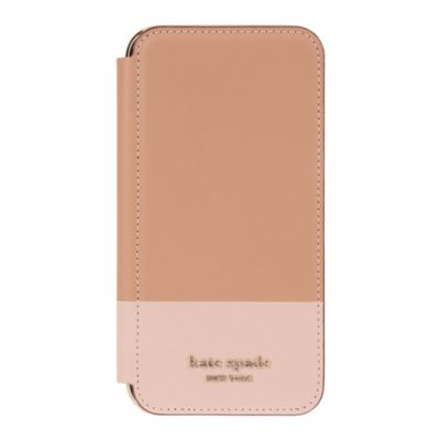 【アウトレット】SoftBank限定モデル kate spade iPhone 11 Pro Inlay Folio tan pu / pale vellum pu
