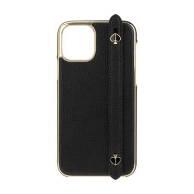 Kate Spade iPhone11Pro INLAY WRAP WITH STAP WITH SPADES