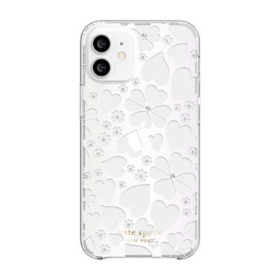 【SoftBank限定モデル】Kate Spade iPhone12Mini KSNY Protective Hardshell Case クリア ホワイト