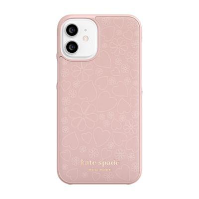 Kate Spade iPhone12mini KSNY Wrap Case ピンク