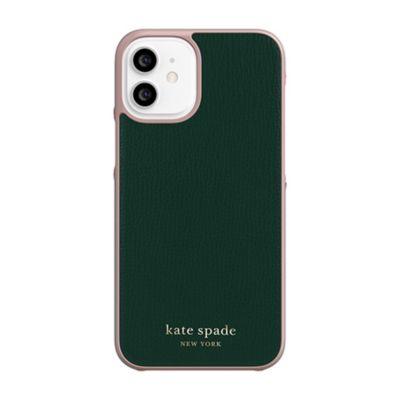 Kate Spade iPhone12mini KSNY Wrap Case ブラック
