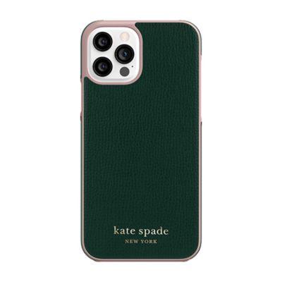 Kate Spade iPhone12Pro/iPhone12 KSNY Wrap Case グリーン