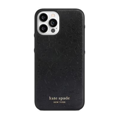 Kate Spade iPhone12ProMax KSNY Wrap Case ブラック