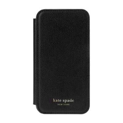 Kate Spade iPhone12mini KSNY Folio Case ブラック