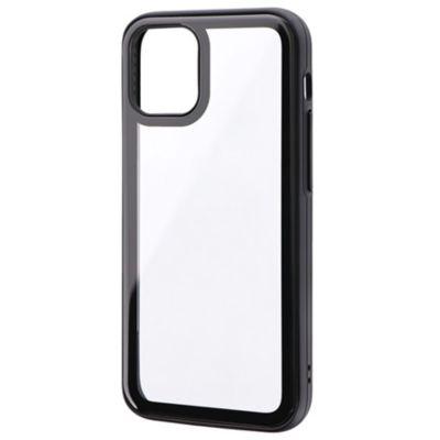 MSソリューションズ iPhone 12 mini ガラスケース SHELL GLASS Round ブラック