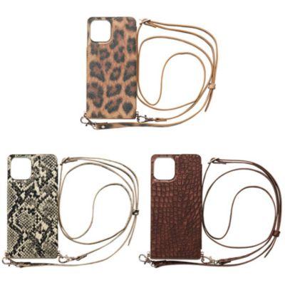 CCCフロンティア iPhone12Pro/iPhone12 Cross Body Case Animal Series ブラウン ベージュ