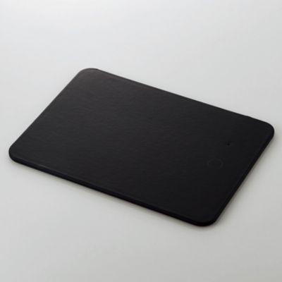 エレコム マウスパッド/ワイヤレス充電対応/5W/ソフトレザー/ブラック