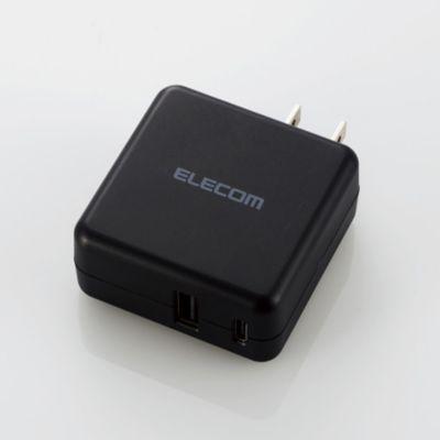 エレコム スマホ・タブレットAC充電器/3.6A/おまかせ充電