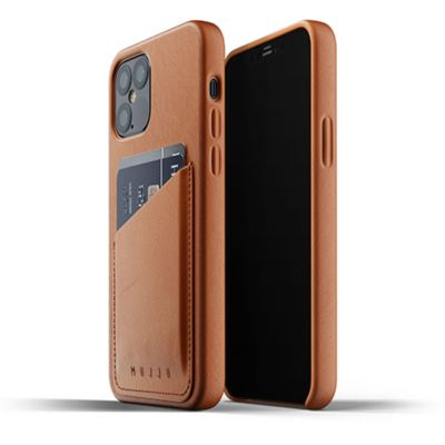 Mujjo Full Leather Wallet Case for iPhone 12 Pro / iPhone 12 ブラウン