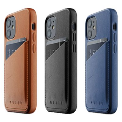 Mujjo Full Leather Wallet Case for iPhone 12 mini ブラウン