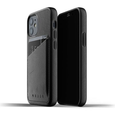 Mujjo Full Leather Wallet Case for iPhone 12 mini ブラック