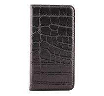 Owltech 高級感のあるシックなクロコダイル調デザインiPhone X専用 THE PUレザー手帳型ケース