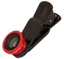 Owltech スマートフォン対応 クリップ型カメラレンズセット (マクロ・魚眼・ワイド)収納袋付