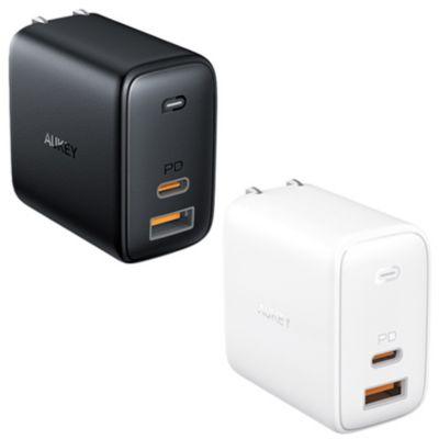 AUKEY オーキー USB充電器 Omnia Mix 65W PD対応 USB-A 1 USB-C 1