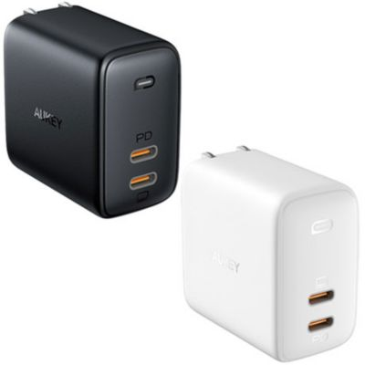 AUKEY オーキー USB充電器 Omnia Duo 65W PD対応 USB-C 2
